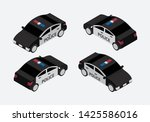 classic police car set... | Shutterstock .eps vector #1425586016