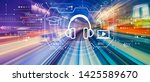 e learning concept with... | Shutterstock . vector #1425589670