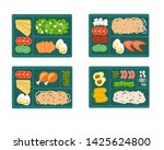 lunchbox container with... | Shutterstock .eps vector #1425624800