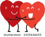 couple in love concept two cute ... | Shutterstock .eps vector #1425636653