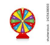 wheel of fortune  spinning... | Shutterstock .eps vector #1425638003
