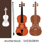 violin. isolated instruments on ... | Shutterstock .eps vector #142563844
