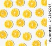 Summer Fruit Pattern Of Lemon...