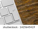 close up of big enter key of... | Shutterstock . vector #1425645419