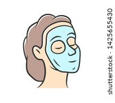 cosmetic facial clay mask color ... | Shutterstock .eps vector #1425655430