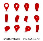 map pointer 3d pin. location... | Shutterstock .eps vector #1425658670