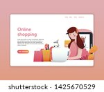 landing page template of online ...
