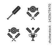 cricket championship glyph... | Shutterstock .eps vector #1425675470