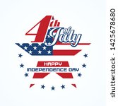 fourth of july badge with star...   Shutterstock .eps vector #1425678680