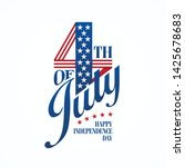 fourth of july typographic...   Shutterstock .eps vector #1425678683