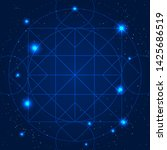 magic geometry sign. vector... | Shutterstock .eps vector #1425686519