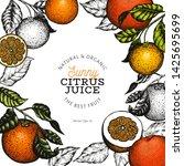 orange fruit design template.... | Shutterstock .eps vector #1425695699