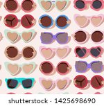 seamless fashion pattern of... | Shutterstock .eps vector #1425698690