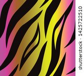 tiger skin pink yellow seamless ... | Shutterstock .eps vector #1425722510