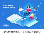 futuristic education technology ... | Shutterstock .eps vector #1425741590
