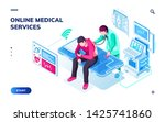 isometric page for online...   Shutterstock .eps vector #1425741860