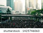 Small photo of HONG KONG, JUNE 17, 2019: Thousands of people urge the government to withdraw a controversial extradition bill . Organizers claimed nearly two million joined the demonstration.
