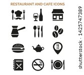 restaurant and cafe icons set... | Shutterstock .eps vector #1425747389