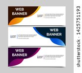 abstract vector banner.modern... | Shutterstock .eps vector #1425751193