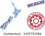 service vector new zealand map... | Shutterstock .eps vector #1425751586