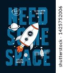 need some space slogan graphic...   Shutterstock .eps vector #1425752006