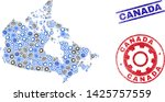 wheel vector canada map collage ... | Shutterstock .eps vector #1425757559