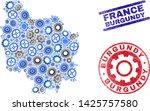 service vector burgundy... | Shutterstock .eps vector #1425757580