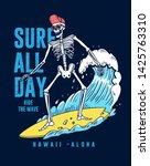 the surfer skeleton... | Shutterstock .eps vector #1425763310