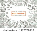 hand drawn organic food.... | Shutterstock .eps vector #1425780113
