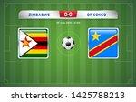 zimbabwe vs dr congo scoreboard ... | Shutterstock .eps vector #1425788213