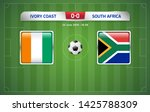 ivory coast vs south africa...   Shutterstock .eps vector #1425788309