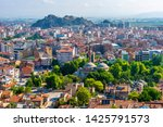 Afyon Castle and Afyon City view from Hidirlik Hill