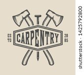 vintage carpentry  woodwork and ...   Shutterstock .eps vector #1425792800