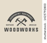 vintage carpentry  woodwork and ...   Shutterstock .eps vector #1425792803