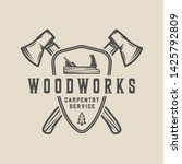 vintage carpentry  woodwork and ...   Shutterstock .eps vector #1425792809