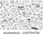hand drawn vector doodles. set... | Shutterstock .eps vector #1425794720