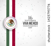 16 september  mexico happy... | Shutterstock .eps vector #1425795776