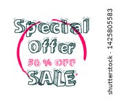 special offer 50  off sale... | Shutterstock .eps vector #1425805583
