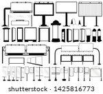 blank silhouettes of billboard  ... | Shutterstock .eps vector #1425816773