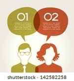 people chatting. vector... | Shutterstock .eps vector #142582258
