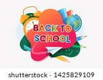 back to school colorful vector... | Shutterstock .eps vector #1425829109