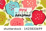 summer. fresh modern background.... | Shutterstock .eps vector #1425833699