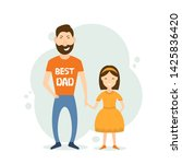 father with his daughter in... | Shutterstock . vector #1425836420