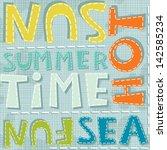 Summertime Sea Fun Hot Colorfu...