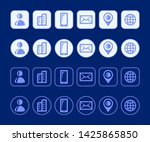vector contact info icons for...