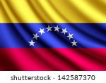 Waving flag of Venezuela, vector