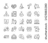 management line icons. set of... | Shutterstock .eps vector #1425883280