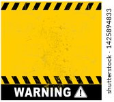 Warning Sign With Grunge...