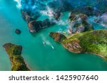 Aerial View Of Sang Cave And...