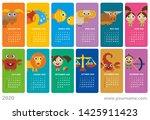 creative calendar 2020 with...   Shutterstock .eps vector #1425911423